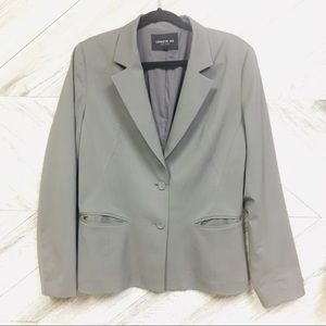 Lafayette 148 | Grey 2 Button Wool Stretch Blazer